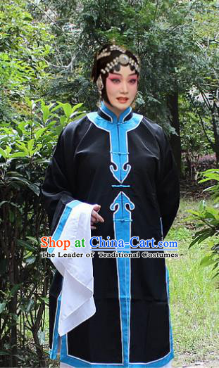 Traditional China Beijing Opera Qingyi Costume, Ancient Chinese Peking Opera Old Women Clothing