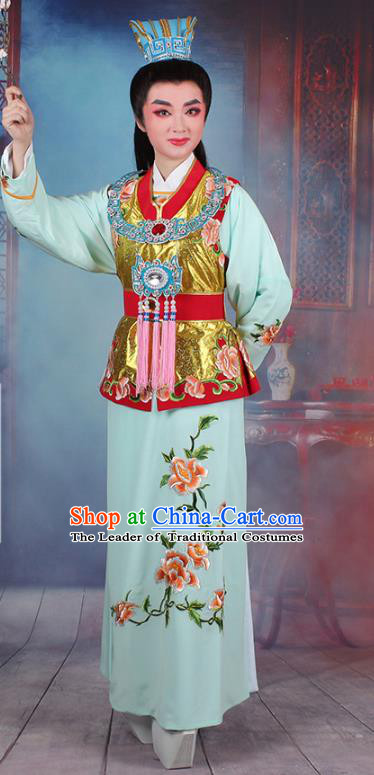 Traditional China Beijing Opera Niche Costume Lang Scholar Embroidered Robe and Headwear, Ancient Chinese Peking Opera Jia Baoyu Embroidery Clothing
