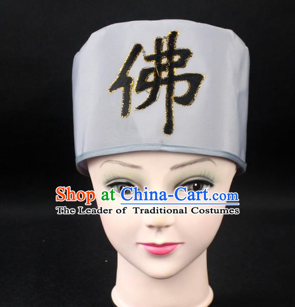 Traditional China Beijing Opera Hair Accessories Buddhist Mun Hat, Ancient Chinese Peking Opera Monk Hat