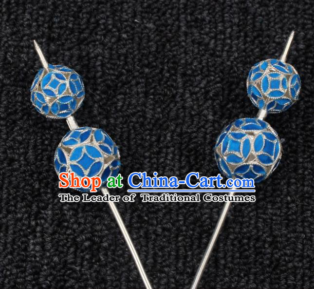 Traditional China Beijing Opera Young Lady Hair Accessories Head-ornaments, Ancient Chinese Peking Opera Hua Tan Diva Calabash Hairpins