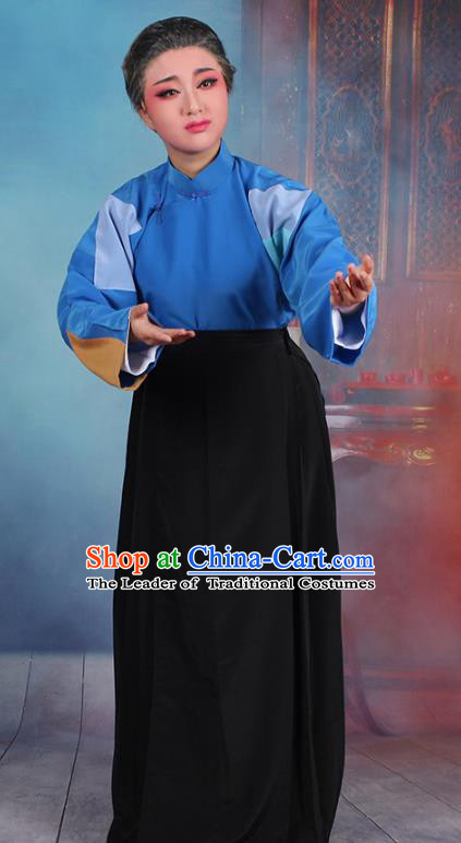 Traditional China Beijing Opera Old Women Costume Beggar Woman Dress, Ancient Chinese Peking Opera Pantaloon Clothing
