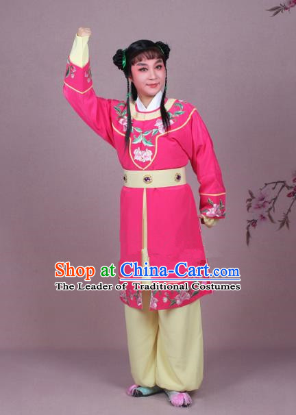 Traditional China Beijing Opera Boy Book Costume Scholar Embroidered Rosy Robe, Ancient Chinese Peking Opera Livehand Clothing