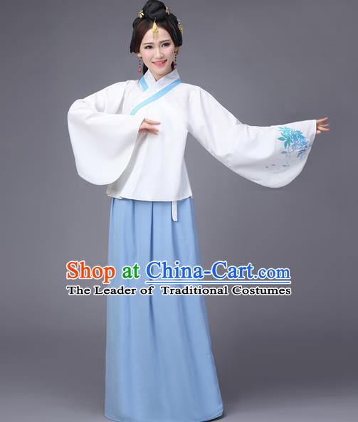 Traditional Chinese Ming Dynasty Young Lady Costume, Elegant Hanfu Clothing Chinese Ancient Princess Sleeve Placket Dress Clothing