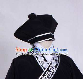Top Grade Professional Beijing Opera Niche Costume Scholar Hair Accessories Headwear, Traditional Ancient Chinese Peking Opera Takefu Hat