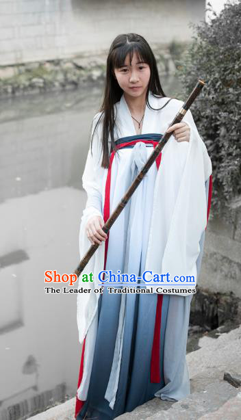 Traditional Ancient Chinese Fairy Dress Palace Lady Costume, Elegant Hanfu Chinese Tang Dynasty Imperial Princess Embroidered Clothing for Women