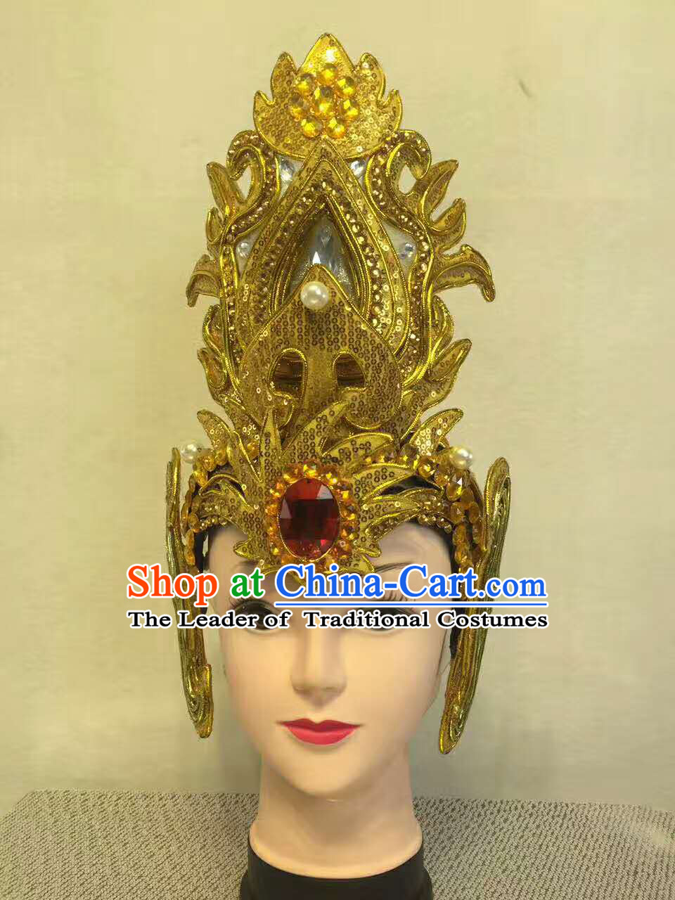 Professional Stage Performance Hat Made to Order Custom Tailored Head Wear Classical Headpieces Hair Accessories