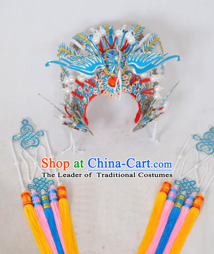 Traditional Chinese Professional Peking Opera Princess Hair Accessories, China Beijing Opera Imperial Concubine Diva Ceremonial Phoenix Coronet