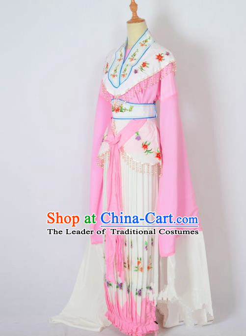 Traditional Chinese Professional Peking Opera Nobility Lady Costume Pink Dress, China Beijing Opera Shaoxing Opera Embroidery Diva Hua Tan Dress Clothing