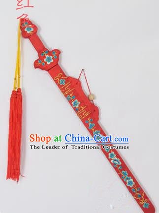 Traditional Chinese Wudang Tai Chi Sword Kungfu Kung Fu Swords Wu Shu Peking Opera Blues Red Sword for Women