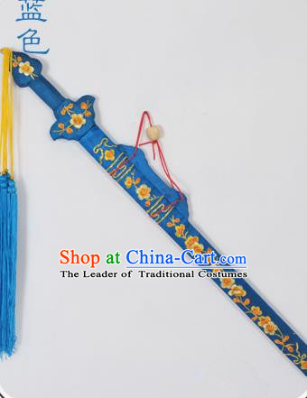 Traditional Chinese Wudang Tai Chi Sword Kungfu Kung Fu Swords Wu Shu Peking Opera Blues Blue Sword for Women