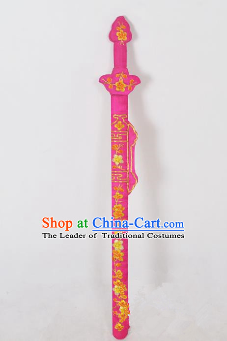 Traditional Chinese Wudang Tai Chi Sword Kungfu Kung Fu Swords Wu Shu Peking Opera Blues Rosy Sword for Women