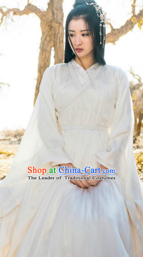 Traditional Chinese Song Dynasty Imperial Princess Costume and Headpiece Complete Set, China Ancient We Feminist Hanfu Dress Clothing for Women