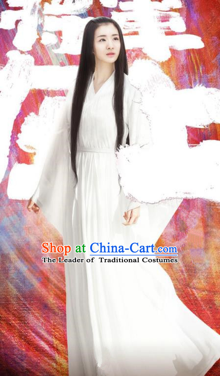 Traditional Chinese Ming Dynasty Young Lady Costume and Headpiece Complete Set, China Ancient Princess Hanfu Dress Clothing for Women