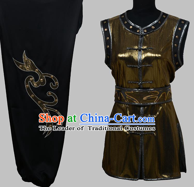 Top Grade Martial Arts Costume Kung Fu Training Clothing, Tai Ji Embroidery Long Fist Uniform Gongfu Wushu Costume for Women for Men