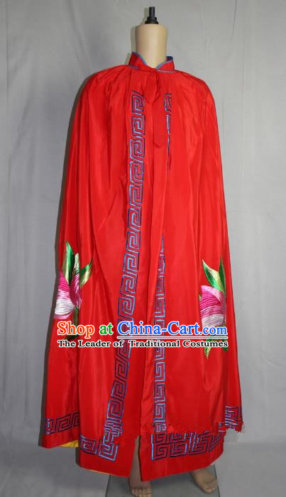 Traditional China Beijing Opera Takefu Handsome Monkey King Mantle Costume, Ancient Chinese Peking Opera Wu-Sheng Embroidery Cloak Clothing