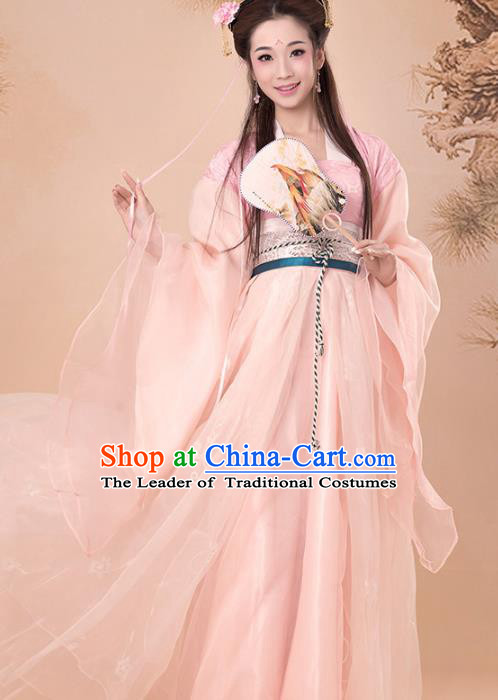 Traditional Chinese Han Dynasty Princess Costume Fairy Elegant Hanfu, Clothing Chinese Ancient Palace Lady Dress Clothing