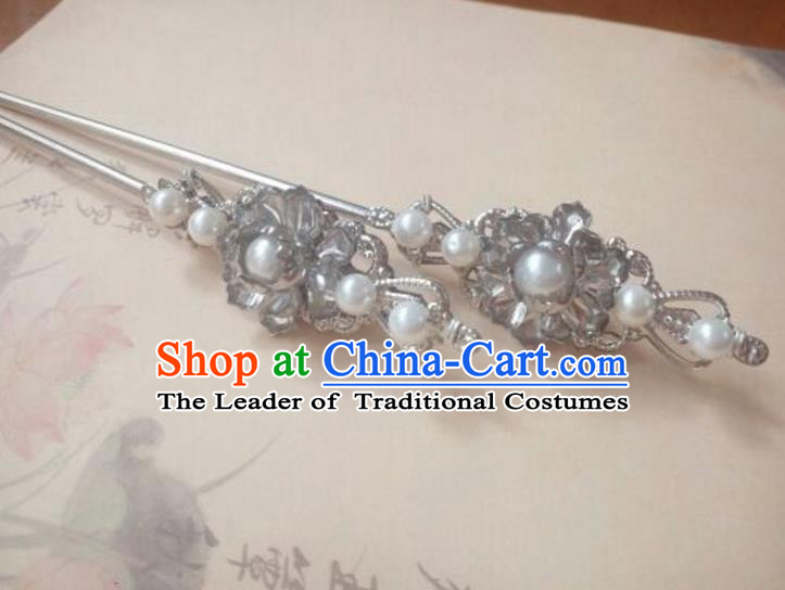Traditional Handmade Chinese Ancient Classical Palace Lady Hair Accessories Hair Jewellery, Hair Fascinators Pearls Hairpins for Women