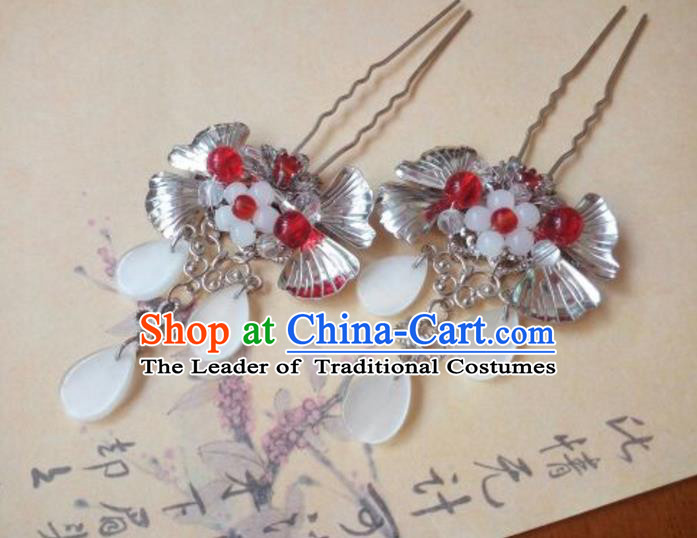 Traditional Handmade Chinese Ancient Classical Hanfu Hair Accessories Side Hairpin, Princess Hairpins Hair Comb Headwear for Women
