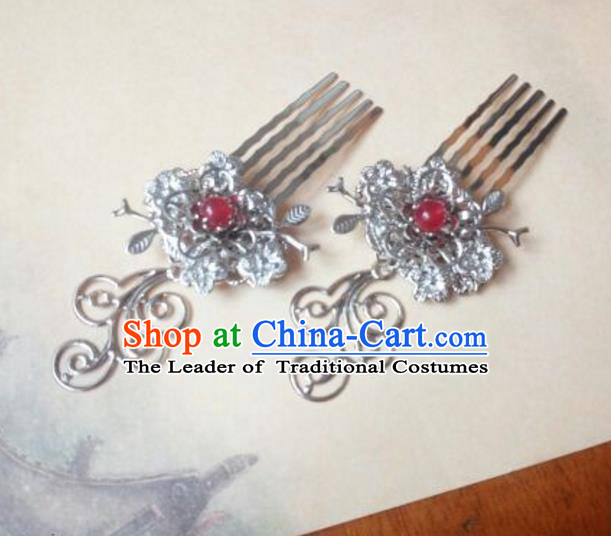 Traditional Handmade Chinese Ancient Classical Hanfu Hair Accessories Hair Comb, Princess Hairpins Headwear for Women