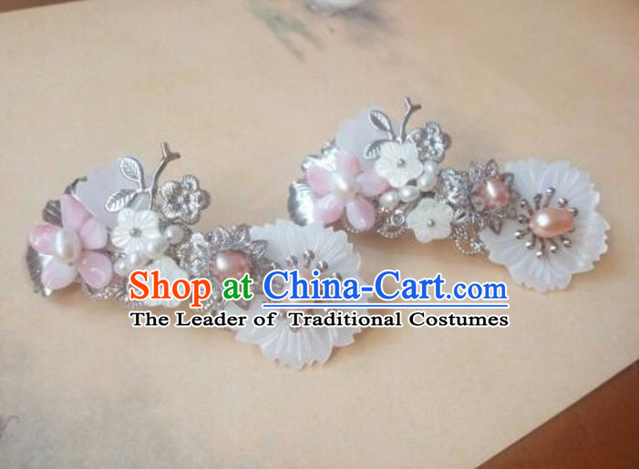 Traditional Handmade Chinese Ancient Classical Hanfu Hair Accessories Palace Lady Hair Claw, Princess Hairpins Hair Stick Headwear for Women