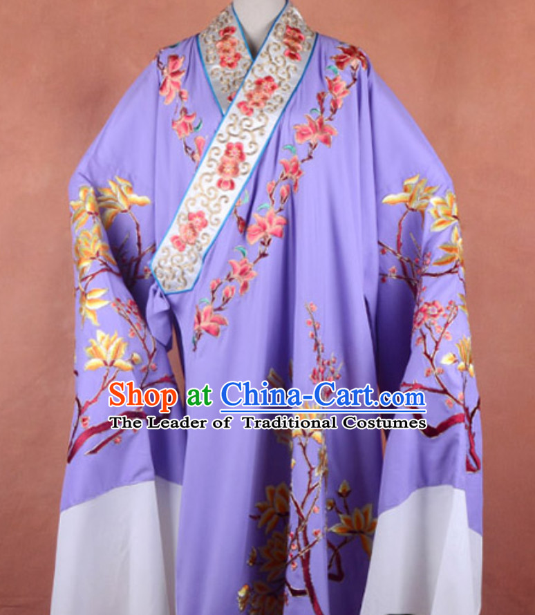 Ancient Chinese Opera Butterfly Love Liang Shanbo Costumes and Hat Complete Set