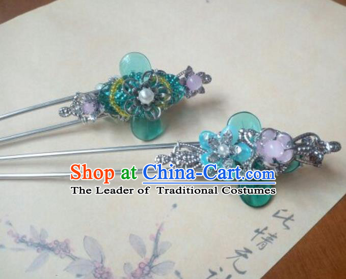 Traditional Handmade Chinese Ancient Classical Hanfu Hair Accessories Hairpins, Princess Headpiece Hair Stick for Women