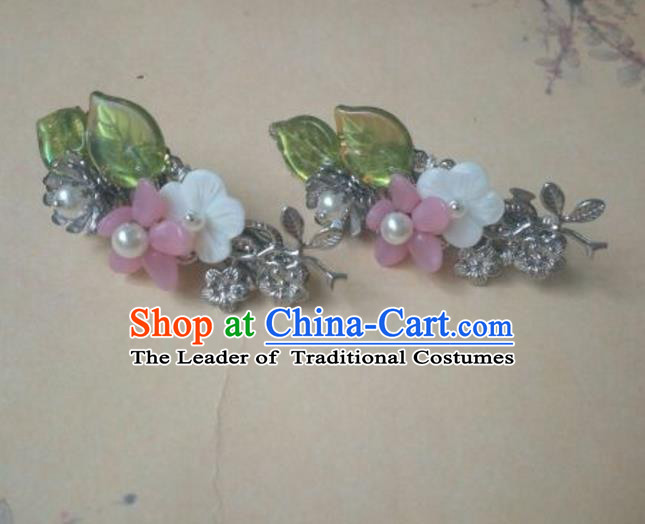 Traditional Handmade Chinese Ancient Classical Hanfu Hair Accessories Little Hair Claw, Princess Headpiece Hairpins Hair Stick Hair Fascinators for Women