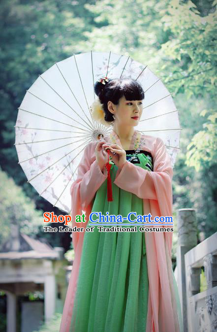 Asian Fashion Oriental Dresses Chinese Hanfu Tang Dynasty Costumes Complete Set