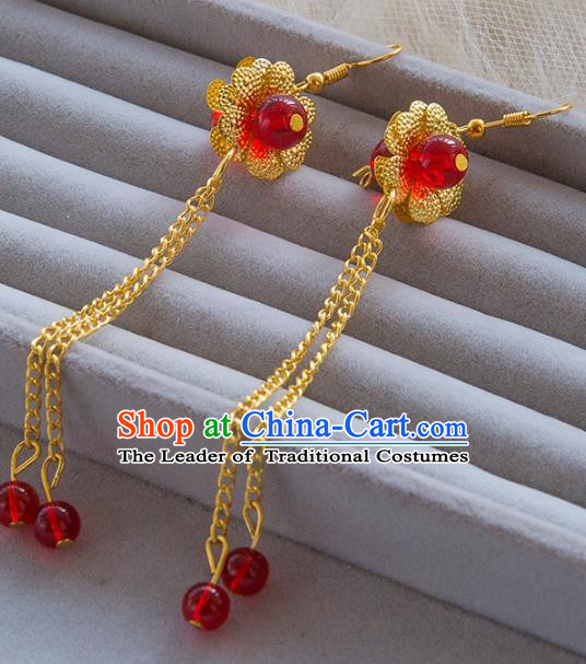 Top Grade Handmade Classical Jewelry Accessories Hanfu Wedding Earrings Bride Eardrop Women