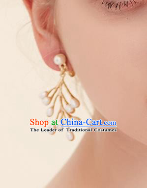 Top Grade Handmade Classical Jewelry Accessories Wedding Earrings Bride Pearls Eardrop Women