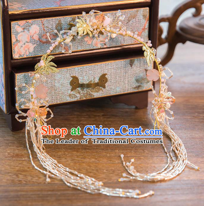 Aisan Chinese Handmade Classical Hair Accessories, China Xiuhe Suit Tassel Hair Clasp Hairpins Wedding Headwear for Women