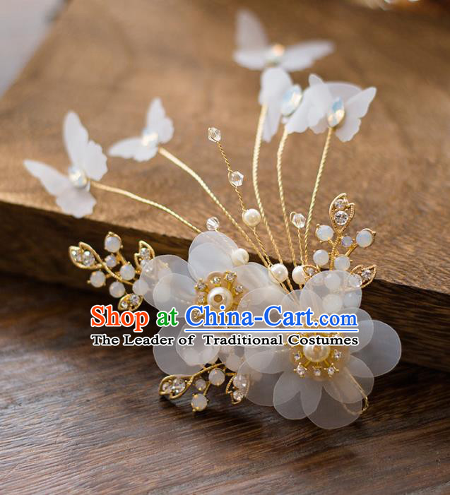 Top Grade Handmade Classical Hair Accessories Baroque Style Princess Flowers Hair Stick Headwear for Women