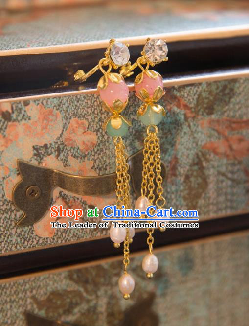 Chinese Handmade Classical Jewelry Accessories Tassel Earrings, China Xiuhe Suit Tassel Eardrop for Women