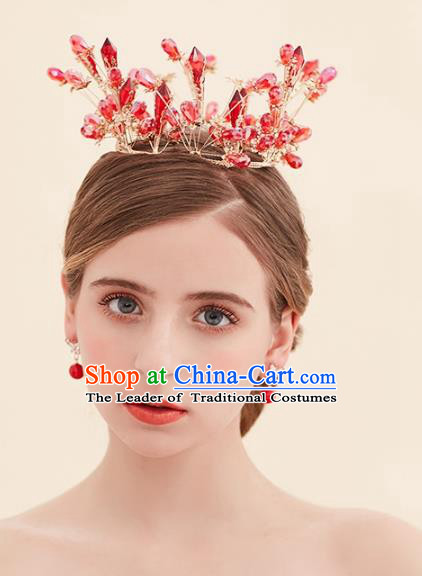 Top Grade Handmade Classical Hair Jewelry Accessories Royal Crown, Baroque Style Princess Crystal Headwear for Women
