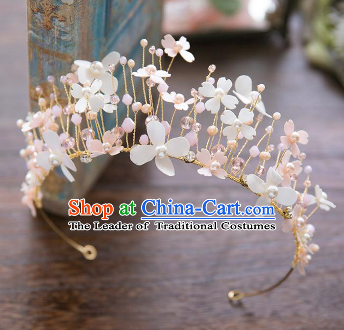 Top Grade Handmade Classical Hair Accessories Baroque Style Princess Crystal Royal Crown Flowers Hair Clasp Headwear for Women
