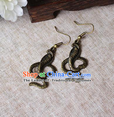Chinese Handmade Classical Accessories Hanfu Earrings, China Xiuhe Suit Tassel Eardrop for Women