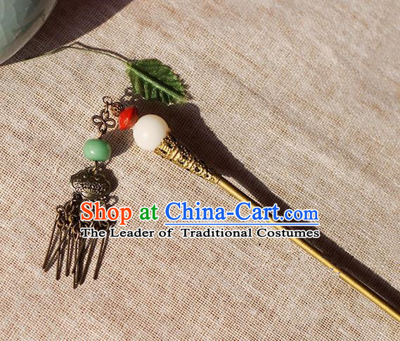 Chinese Handmade Classical Accessories Tassel Hairpin, China Hanfu Step Shake Hair Clip for Women