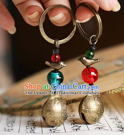 Chinese Handmade Classical Accessories Hanfu Bells Key Ring for Women for Men
