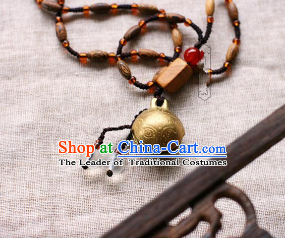 Chinese Handmade Classical Accessories Hanfu Bells Necklace for Women