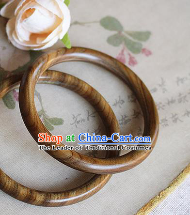 Chinese Handmade Classical Accessories Sandalwood Bracelet, China Hanfu Bangle for Women
