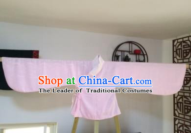 Traditional Oriental China Ming Dynasty Costume Palace Lady Embroidered Pink Blouse for Women