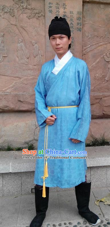 Traditional Oriental China Ming Dynasty Costume Ancient Court Eunuch Gwanbok Long Robe for Men