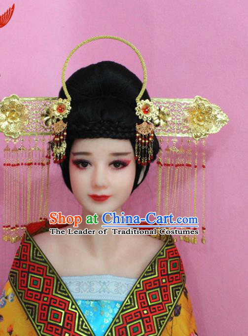 Traditional Handmade Chinese Classical Hair Accessories, Ancinet Empress Phoenix Coronet Hairpins Complete Set for Women