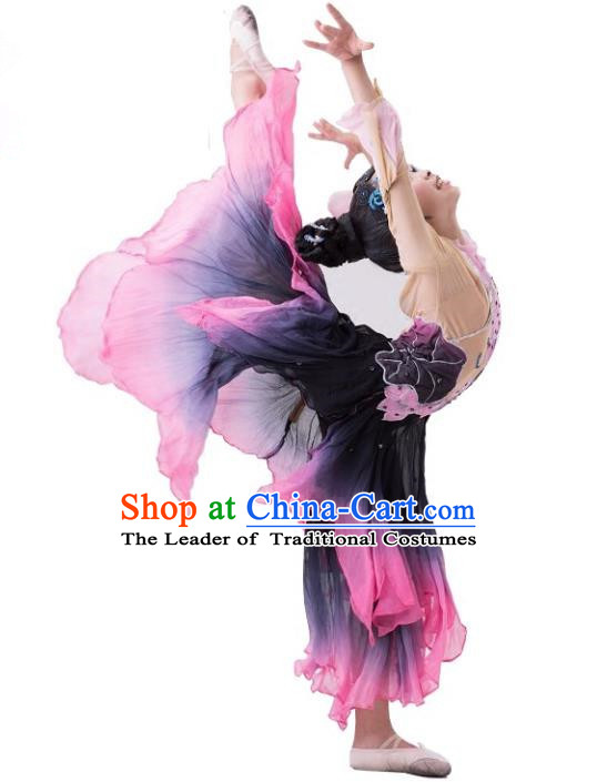 Traditional Chinese Classical Dance Yangge Fan Dance Costume, Folk Dance Uniform Umbrella Dance Clothing for Women