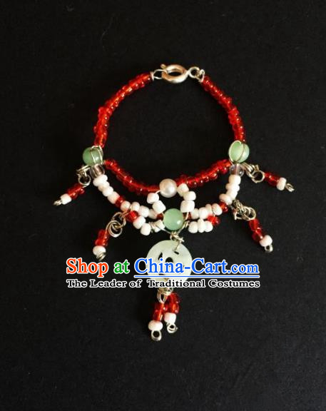 Traditional Handmade Chinese Accessories Necklace, China Palace Lady Hanfu Tassel Necklet