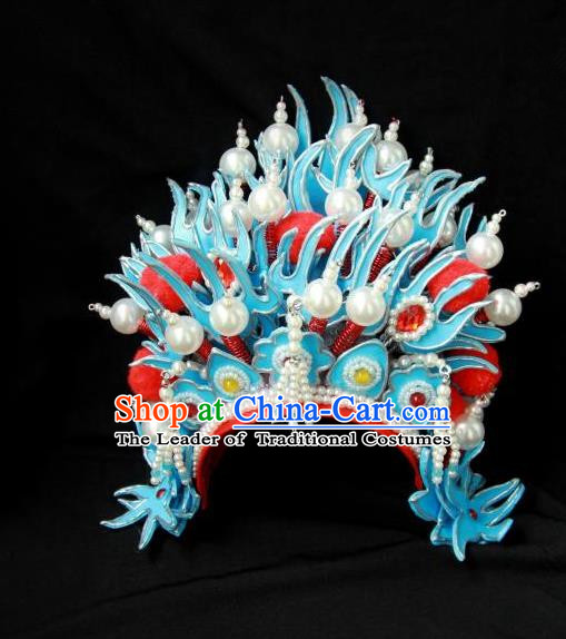 Traditional Handmade Chinese Wedding Hair Accessories Headwear, Ancient Chinese Bride Phoenix Coronet Headpiece