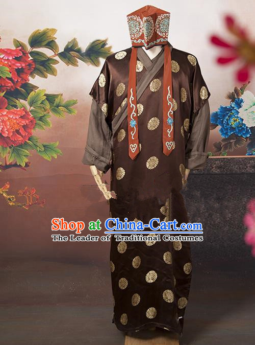 Traditional Ancient Chinese Swordsman Costume, Asian Chinese Ming Dynasty Ministry Councillor Clothing for Men