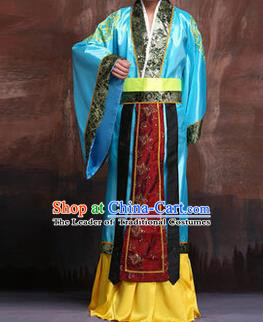 Traditional Ancient Chinese Hanfu Prime Minister Costume, Asian Chinese Han Dynasty Robe Clothing for Men