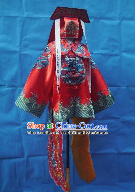 Traditional Chinese Peking Opera Imperial Bodyguard Costume Embroidered Robe, China Ancient Beijing Opera General Gwanbok for Men