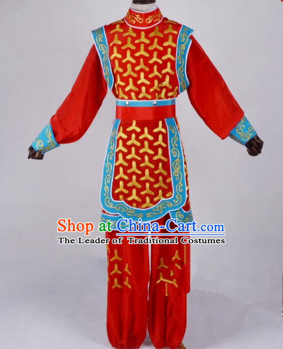 Traditional China Beijing Opera Takefu Bianlian Costume, Ancient Chinese Peking Opera Wu-Sheng Warrior Embroidery Dragon Dance Clothing